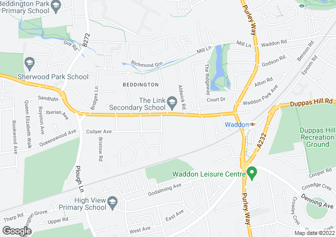Map for Croydon Road,
