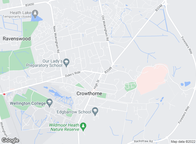 Map for Michael Hardy, Crowthorne