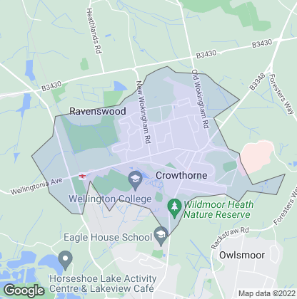 Map of property in Crowthorne