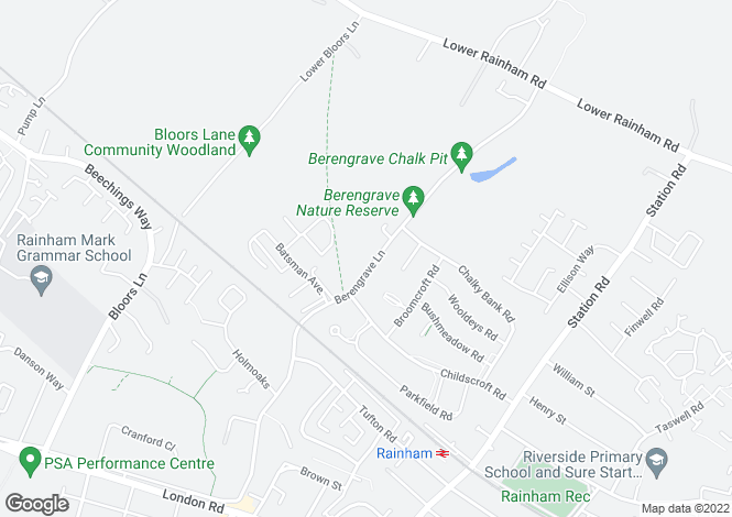 Map for Berengrave Lane, Rainham, Gillingham ME8