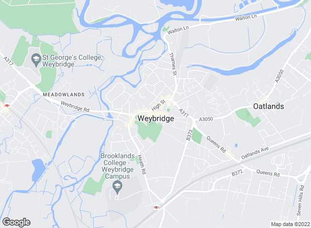 Map for Gascoigne-Pees Lettings, Weybridge