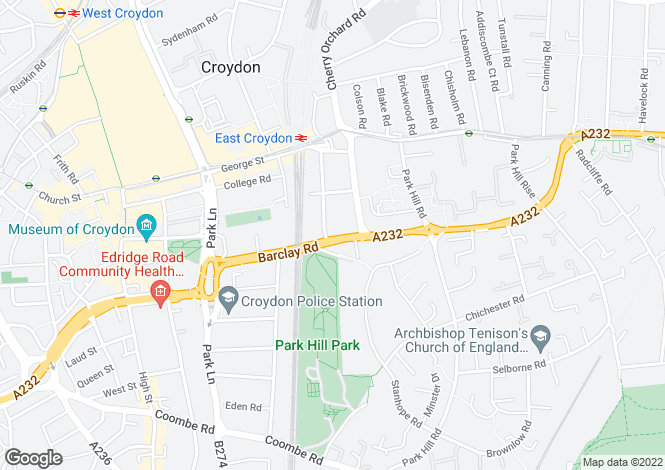Map for Altitude 25, 9 Altyre Road, Croydon, CR0