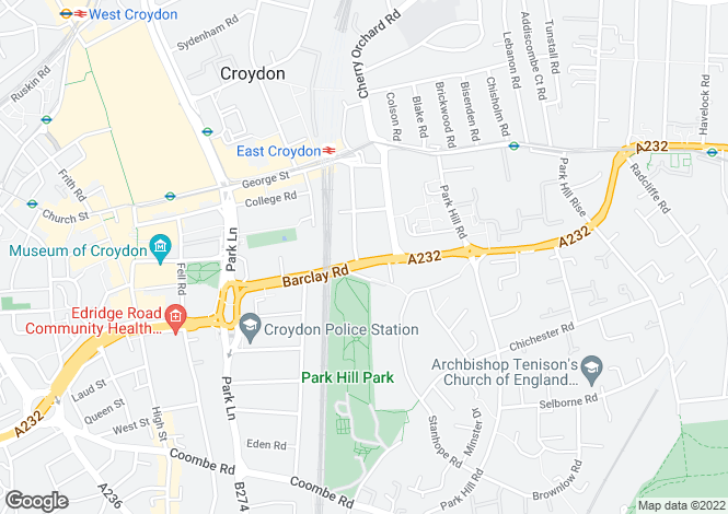 Map for Altitude Apartments, Altitude 25, 9 Altyre Road, Croydon
