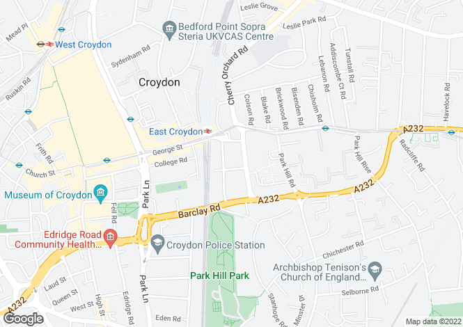 Map for Croydon