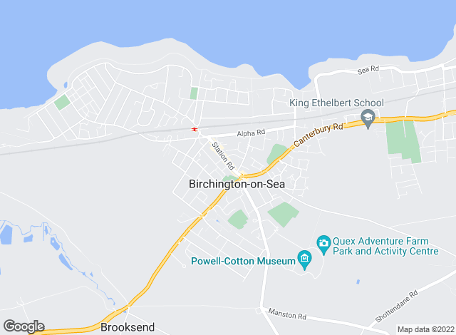 Map for Oakwood Homes, Birchington