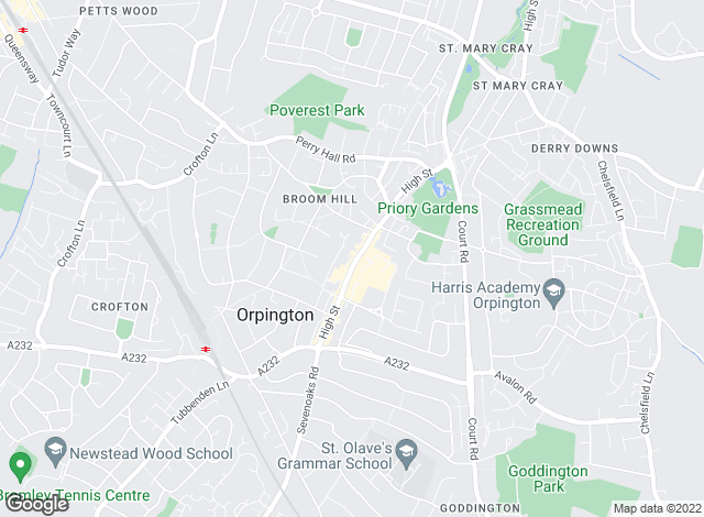 Map for Alan De Maid, Orpington