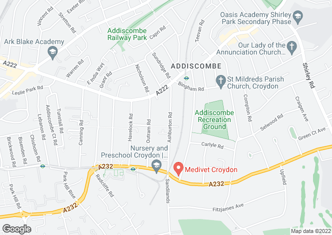 Map for Edgecumbe Court, Ashburton Road, Croydon,