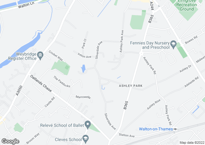 Map for Ashley Park