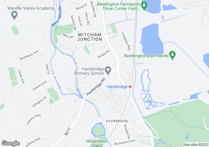 Map for Hackbridge Road, WALLINGTON, Surrey, SM6 7AY
