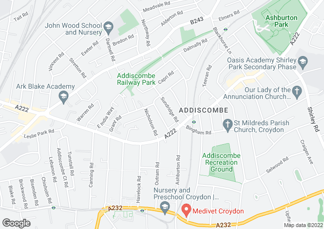 Map for Inglis Road,