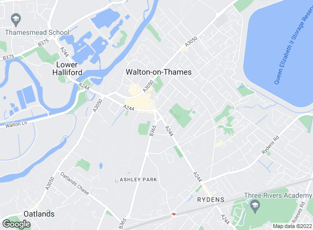 Map for Aston Mead, Walton-on-Thames
