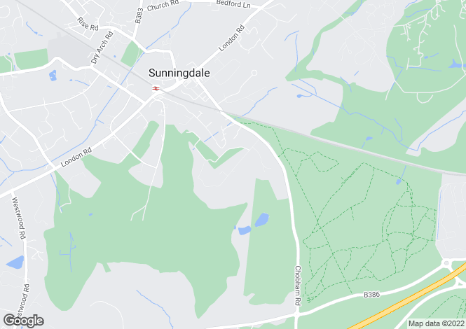 Map for Titlarks Hill, Sunningdale, Ascot, Berkshire