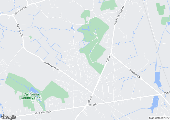 Map for Dodsells Well, Finchampstead, RG40