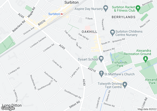 Map for Penners Gardens, Surbiton, KT6