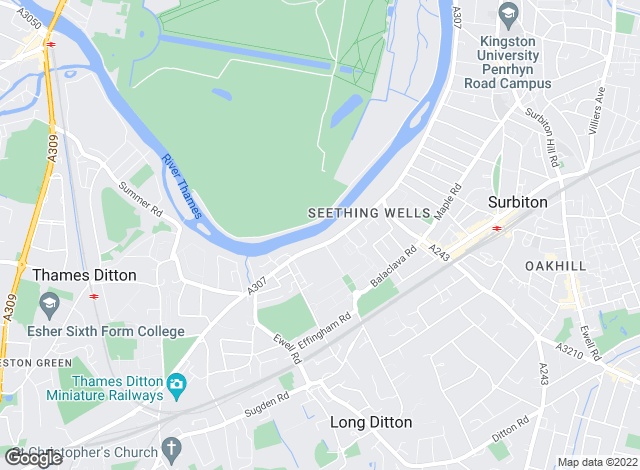 Map for Waterview, Thames Ditton