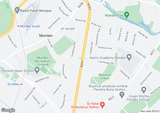 Map for St Hellier Avenue, Morden, Surrey