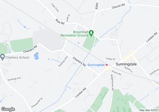 Map for Woodby Drive, Sunningdale, Berkshire