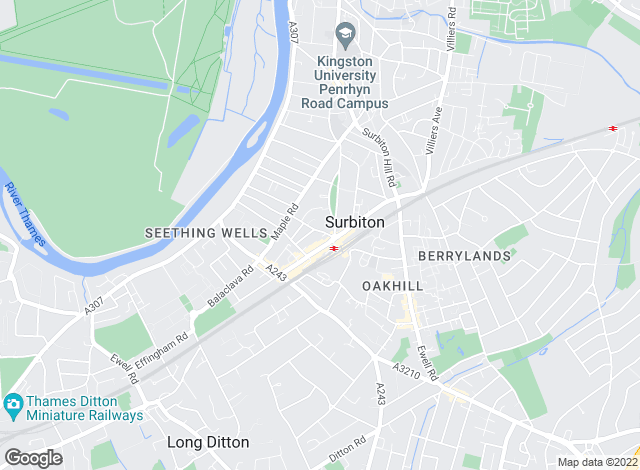 Map for Matthew James, Surbiton