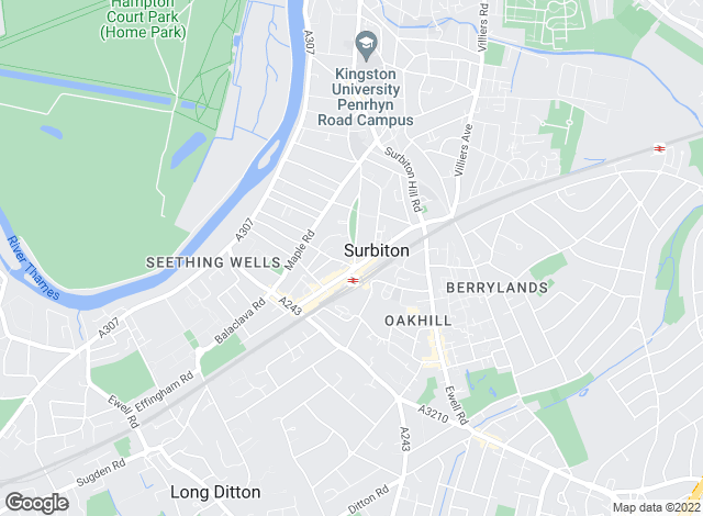 Map for Greenfield Estate Agents , Surbiton