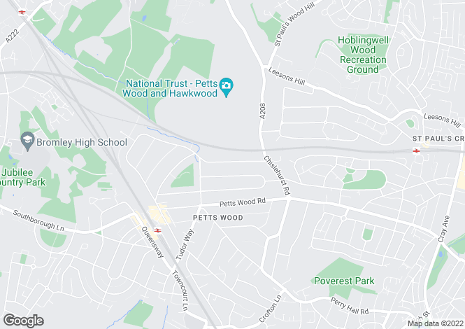Map for Birchwood Road, Petts Wood, Kent