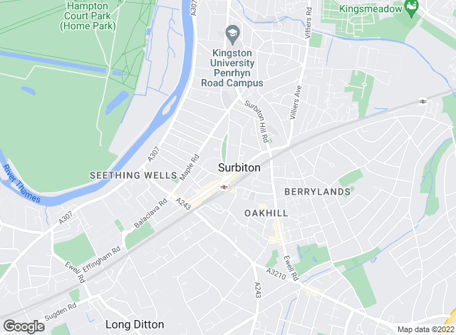 Map for Gascoigne-Pees Lettings, Surbiton