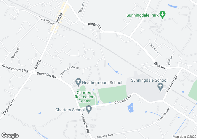 Map for Charters, Sunninghill, Ascot, Berkshire