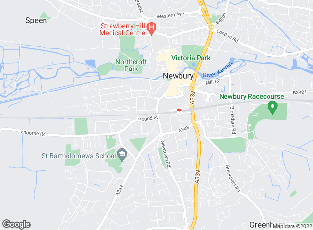 Map for Hillier & Wilson, Newbury