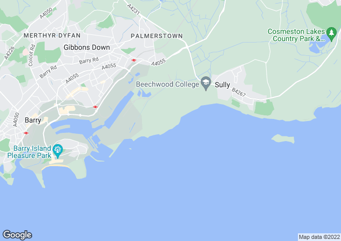 Map for The Headlands,Hayes Point,Hayes Road,PENARTH,South Glamorgan,CF64 5QH,Wales