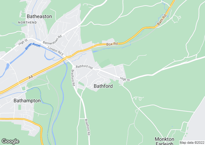 Map for Bathford, Bath