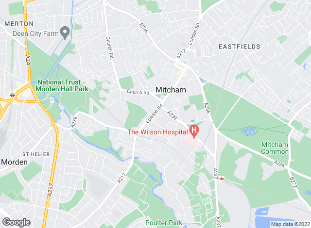 Map for Toomey Estate Agents, Mitcham