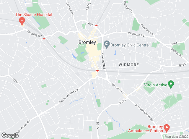 Map for Mann Countrywide, Bromley