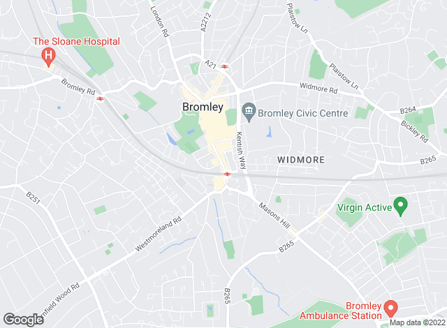 Map for Sinclair Hammelton , Bromley