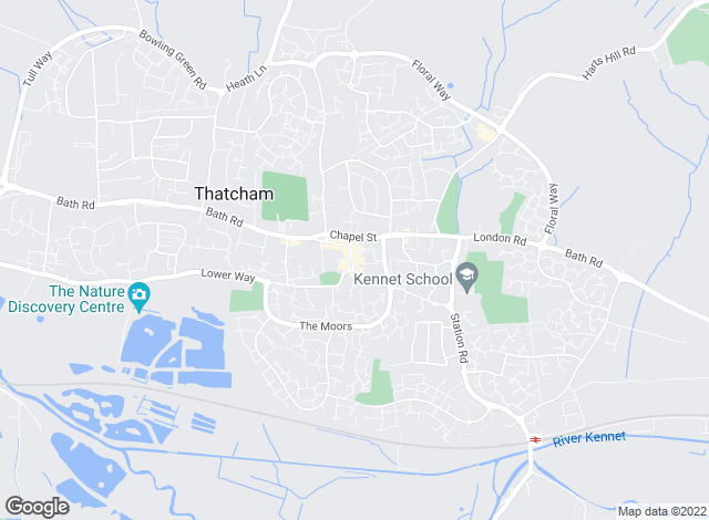 Map for Chancellors, Thatcham