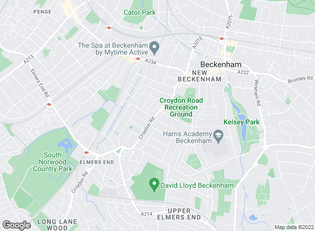Map for The Address, Beckenham