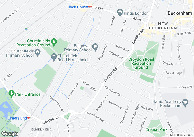 Map for Cromwell Road, Beckenham, BR3