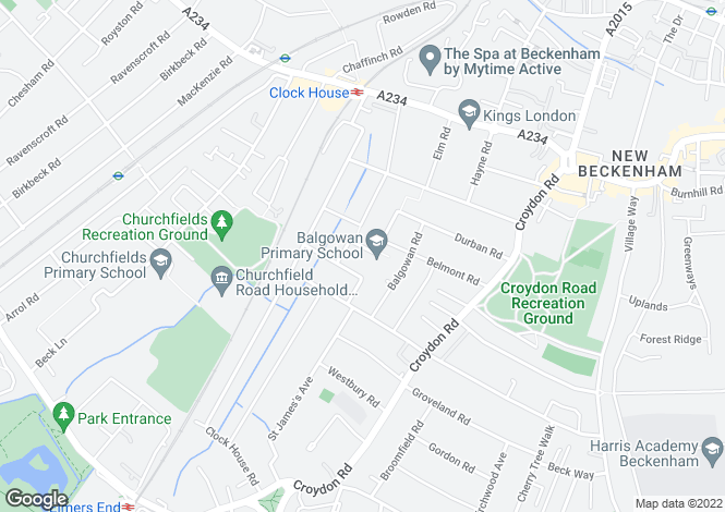 Map for Hampden Avenue, Beckenham, BR3