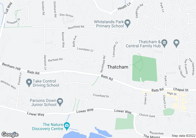 Map for The Firs, Thatcham