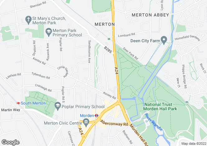 Map for Daybrook Road, Merton Park