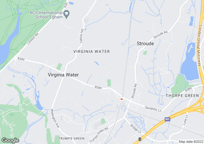 Map for Gorse Hill Road, Virginia Water, Surrey GU25