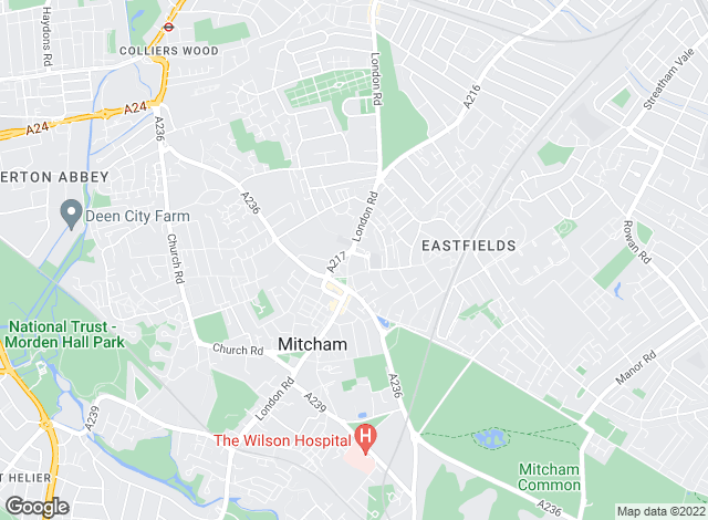 Map for Townends, Mitcham