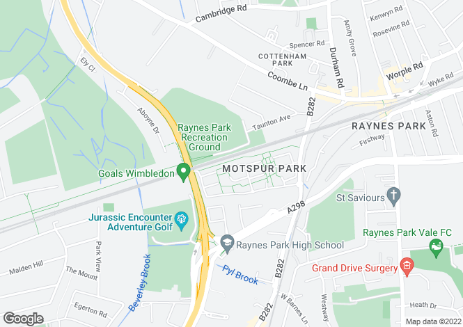 Map for Polesden Gardens, Raynes Park, SW20