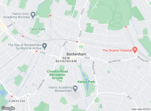 Map for George Proctor & Partners, Beckenham