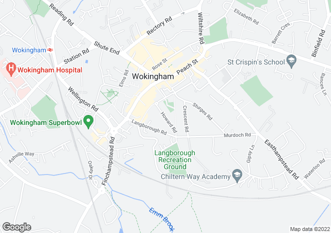 Map for WOKINGHAM TOWN CENTRE