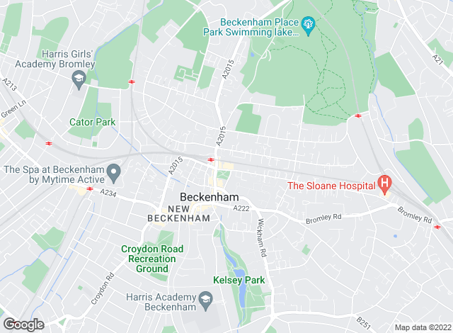 Map for Curran & Pinner , Beckenham
