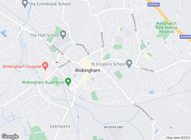 Map for David Cliff, Wokingham