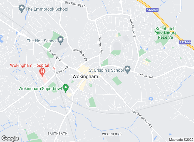 Map for Hunters, Wokingham