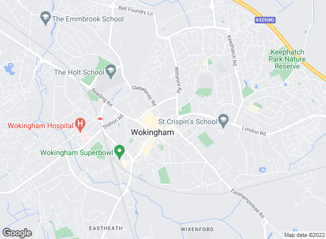 Map for Richard Worth Property Services, Wokingham