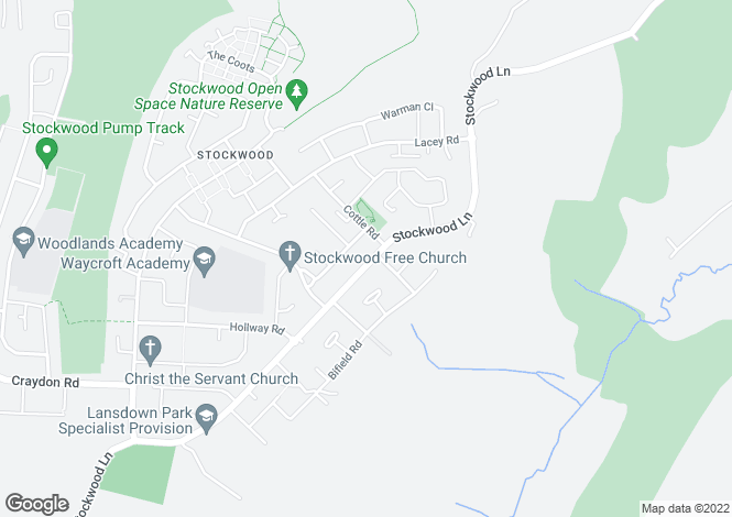 Map for Stockwood Lane, Stockwood, BRISTOL