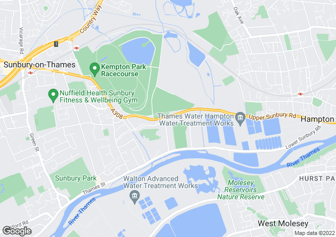 Map for Staines Road East, Sunbury-on-thames, Middlesex, TW16