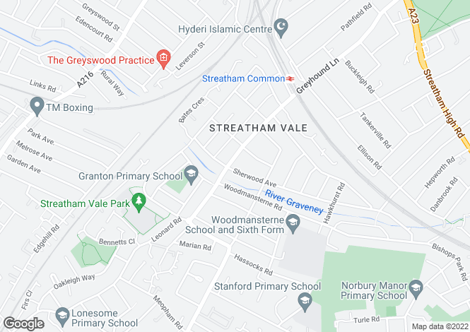 Map for Streatham Vale, SW16 5SQ